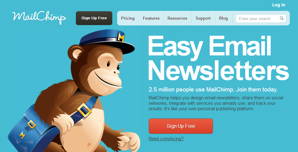 Indicateurs de performance : Mailchimp