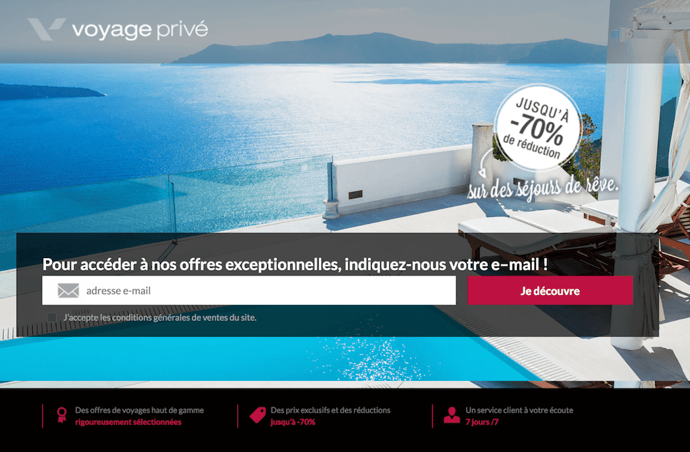 exemple landing page